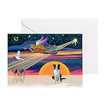 XmasStar/Border Collie Greeting Card