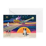 XmasStar/Border Collie Greeting Cards (Pk of 10)