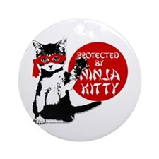 Ninja Kitty! Ornament (Round)