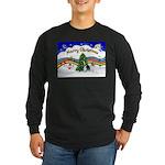 XmasMusic1/PBGV #9 Long Sleeve Dark T-Shirt