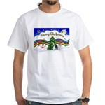 XmasMusic1/PBGV #9 White T-Shirt