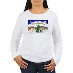 XmasMusic1/PBGV #9 Women's Long Sleeve T-Shirt