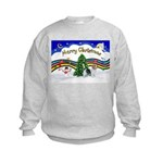 XmasMusic1/PBGV #9 Kids Sweatshirt