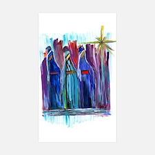 Los Tres Reyes Magos Rectangle Sticker 50 pk)