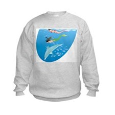Mermaid, Snorkeler & Dolphin Sweatshirt