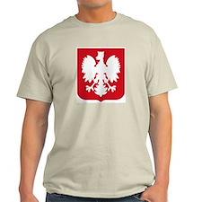 Polish Eagle Emblem Ash Grey T-Shirt