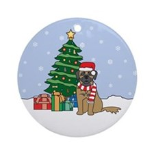 Leonberger Christmas Ornament (Round)