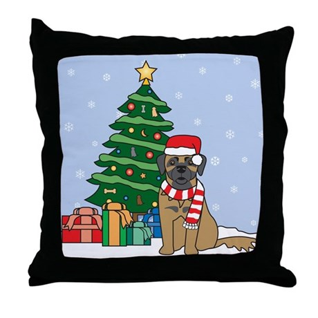 Leonberger Christmas Throw Pillow