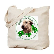 Irish Shamrock WolfHound Tote Bag