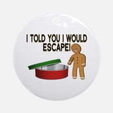 Cookie Escape Ornament (Round)