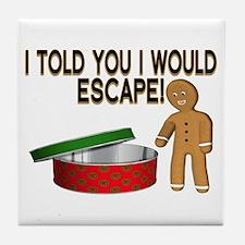 Cookie Escape Tile Coaster