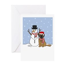 Leonberger Happy Holidays Greeting Card