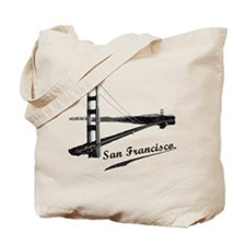 Vintage San Francisco Reusable Tote Bag
