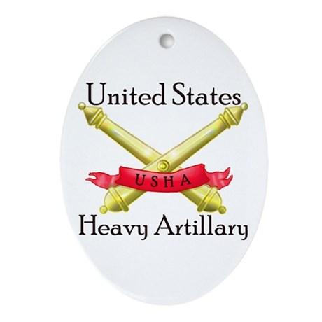United States Heavy Artillery Ornament (Oval)