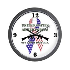 Armed Forces, Pain & Gain (RW Wall Clock