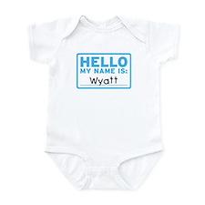 Hello My Name Is: Wyatt - Onesie