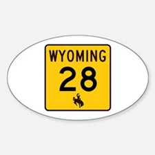 Highway 28, Wyoming Oval Decal