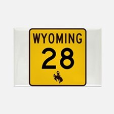Highway 28, Wyoming Rectangle Magnet