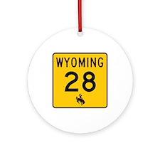 Highway 28, Wyoming Ornament (Round)