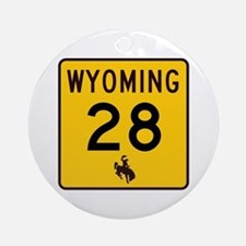 Highway 28, Wyoming Ornament (Round)