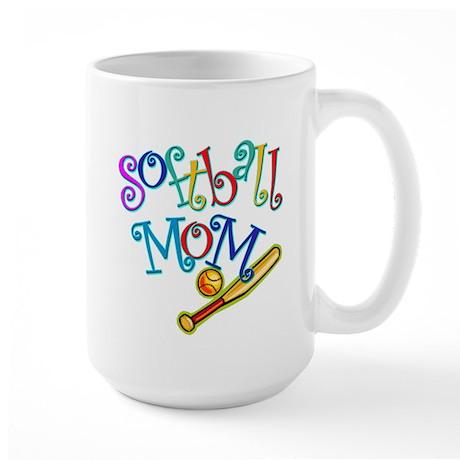 Softball Mom II Large Mug