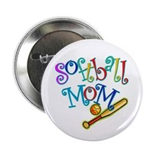 "Softball Mom II 2.25"" Button (10 pack)"