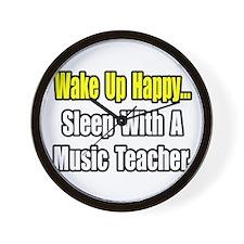 """""""Sleep With a Music Teacher"""" Wall Clock"""