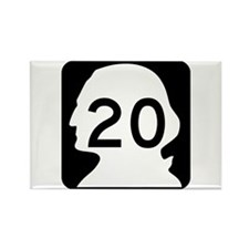 State Route 20, Washington Rectangle Magnet