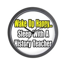 """""""Sleep With History Teacher"""" Wall Clock"""