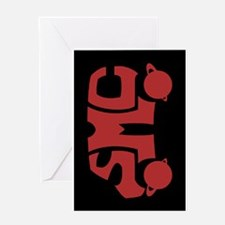 Red SMC Van Logo Greeting Card