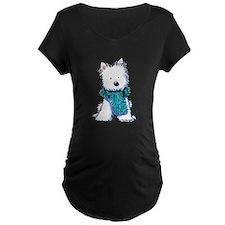 Fuzzy Scarf Westie T-Shirt