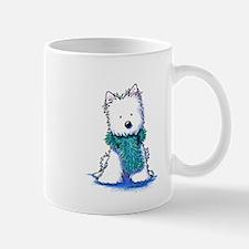 Fuzzy Scarf Westie Mug