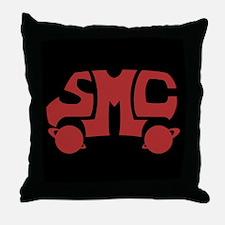 Red SMC Van Logo Throw Pillow