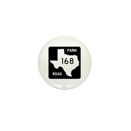 Farm-to-Market Road 168. Texas Mini Button (10 pac
