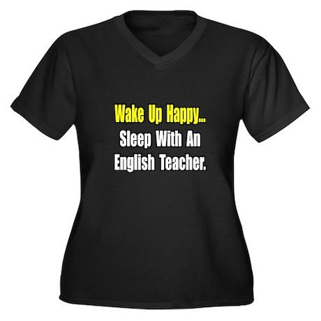 """Sleep With English Teacher"" Women's Plus Size V-N"