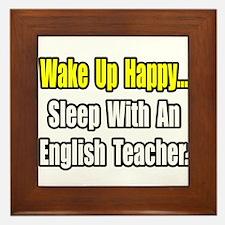 """""""Sleep With English Teacher"""" Framed Tile"""