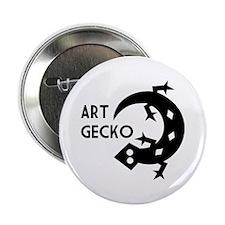 """Art Gecko 2.25"""" Button"""