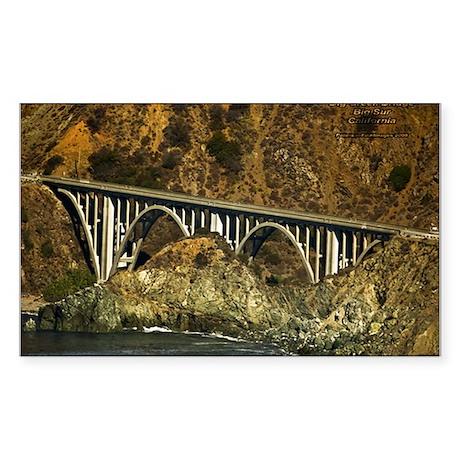 Big Sur Bridge 2 Rectangle Sticker