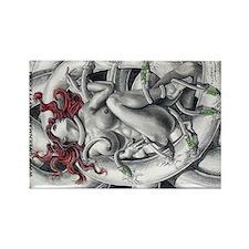 Unique Womens Rectangle Magnet (100 pack)