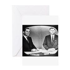 Nixon Vs Kennedy Debate Greeting Card
