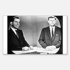 Nixon Vs Kennedy Debate Rectangle Decal