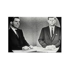 Nixon Vs Kennedy Debate Rectangle Magnet