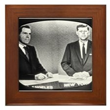 Nixon Vs Kennedy Debate Framed Tile