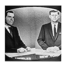 Nixon Vs Kennedy Debate Tile Coaster