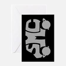 Grey SMC Van Logo Greeting Card