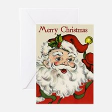 Vintage Santa Claus Christmas Cards (Pk of 10)