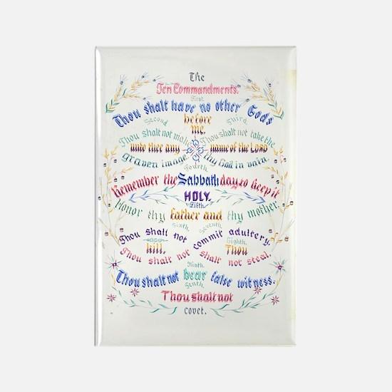 Ten Commandments Rectangle Magnet