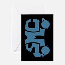 Blue SMC Van Logo Greeting Card