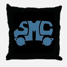 Blue SMC Van Logo Throw Pillow