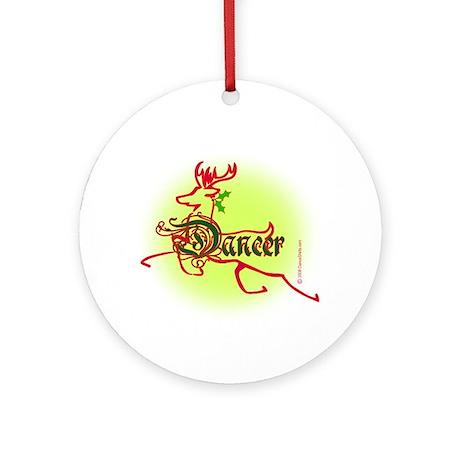 Reindeer Dancer Ornament (Round)